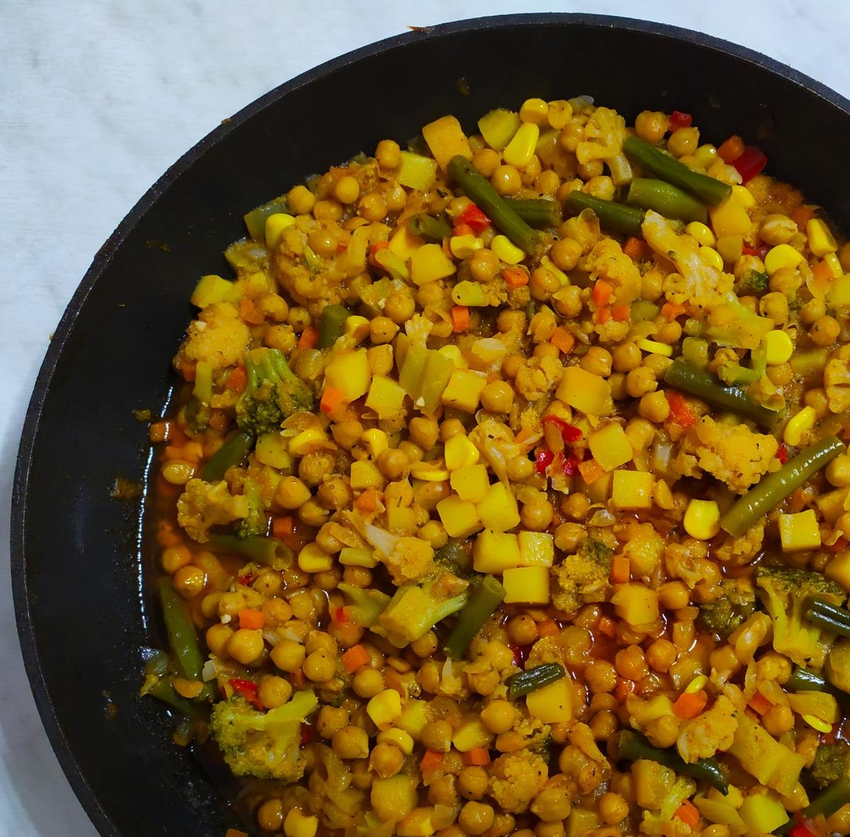Веганский рецепт Рагу из нута с овощами